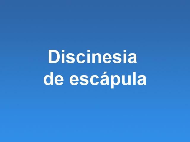 discinesia de escápula